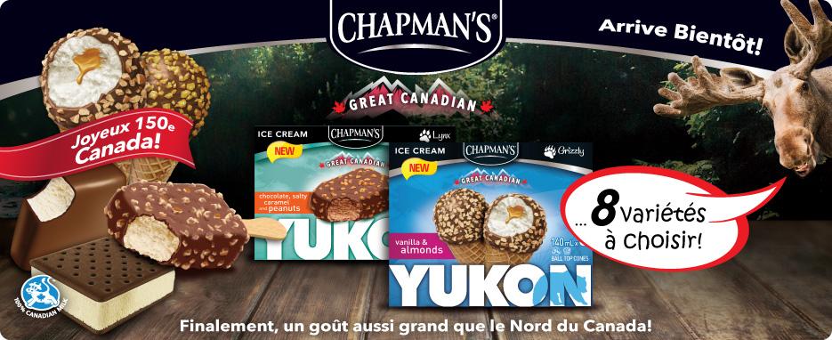 YUKON Barre et sandwiches de crème glacée