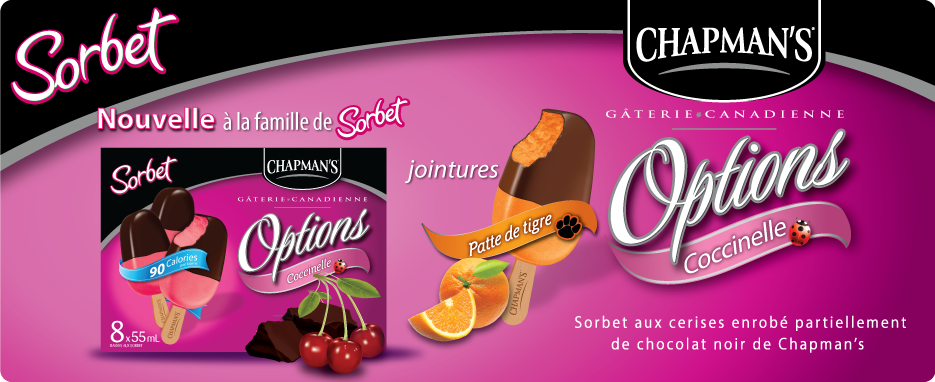 Options gâteries canadienne: Sorbet coccinelle
