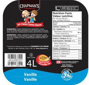 ice cream ingredients list pdf